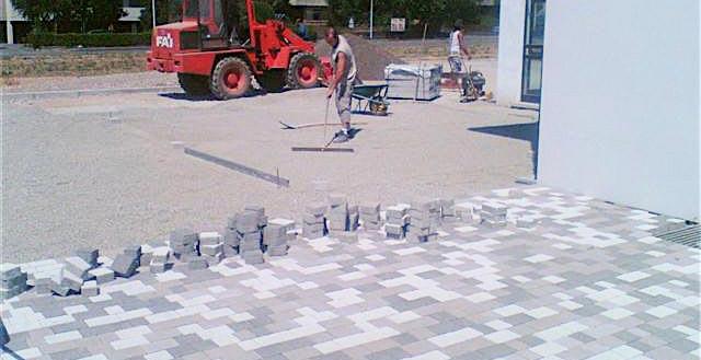 Cubo pavimentazioni: la posa